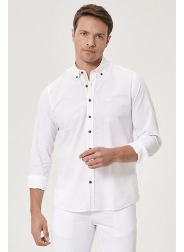 Beymen Business 4B2020200001 Beyaz Slim Fit Gömlek Gofre Beyaz